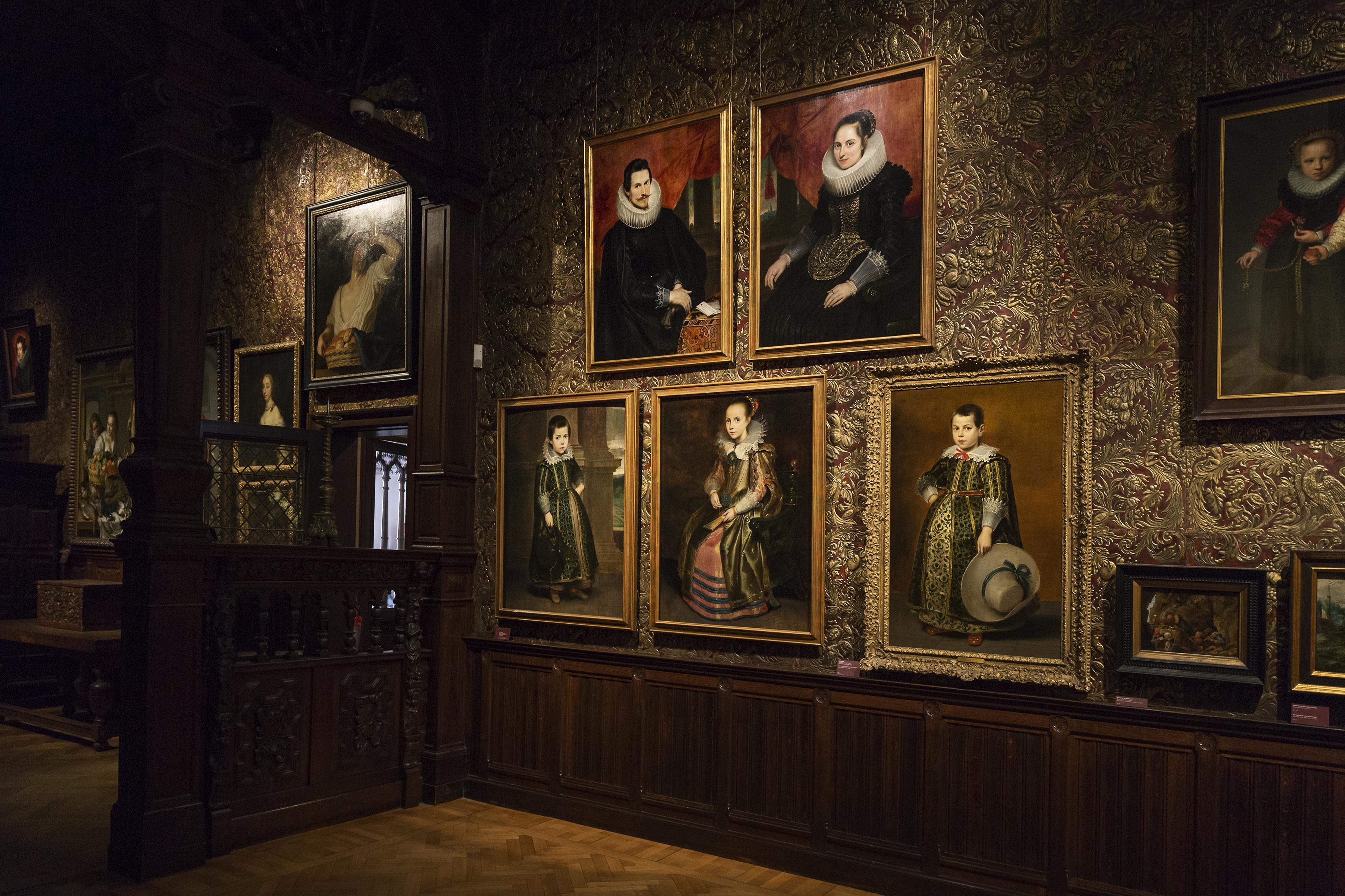 Zicht op de portrettenreeks van Cornelis de Vos