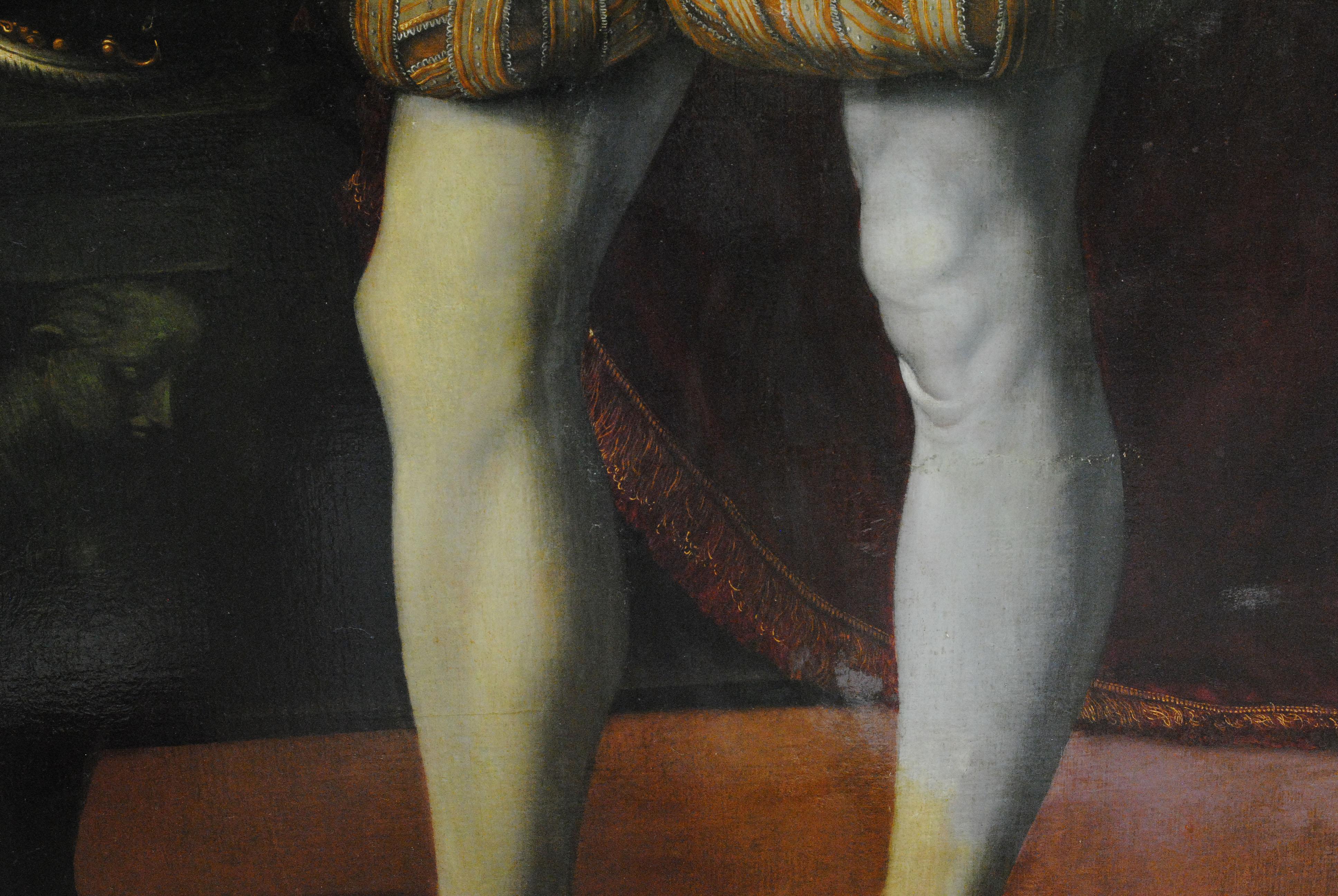 Alessandro Allori (1535-1607), portret van Francesco I De'Medici tijdens restauratie 2021_9, ca 1560