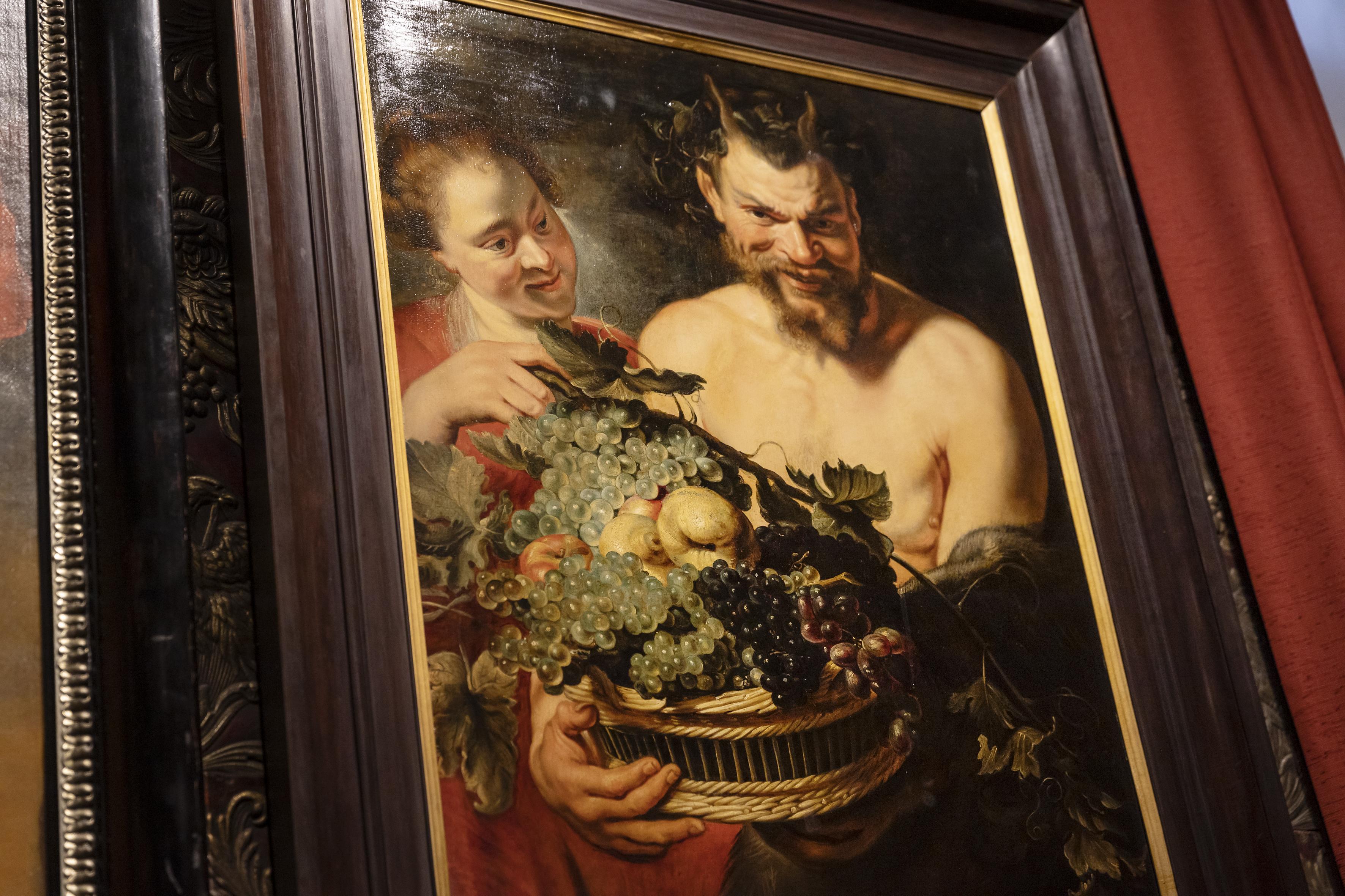 Atelier Rubens, Faun en nimf, detail