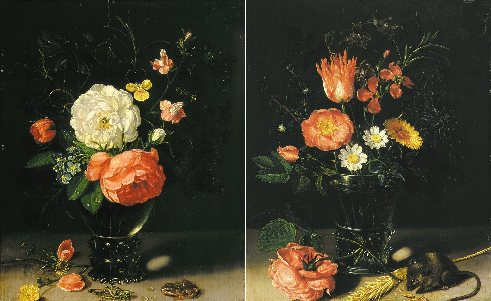 Twee bloemstukjes
