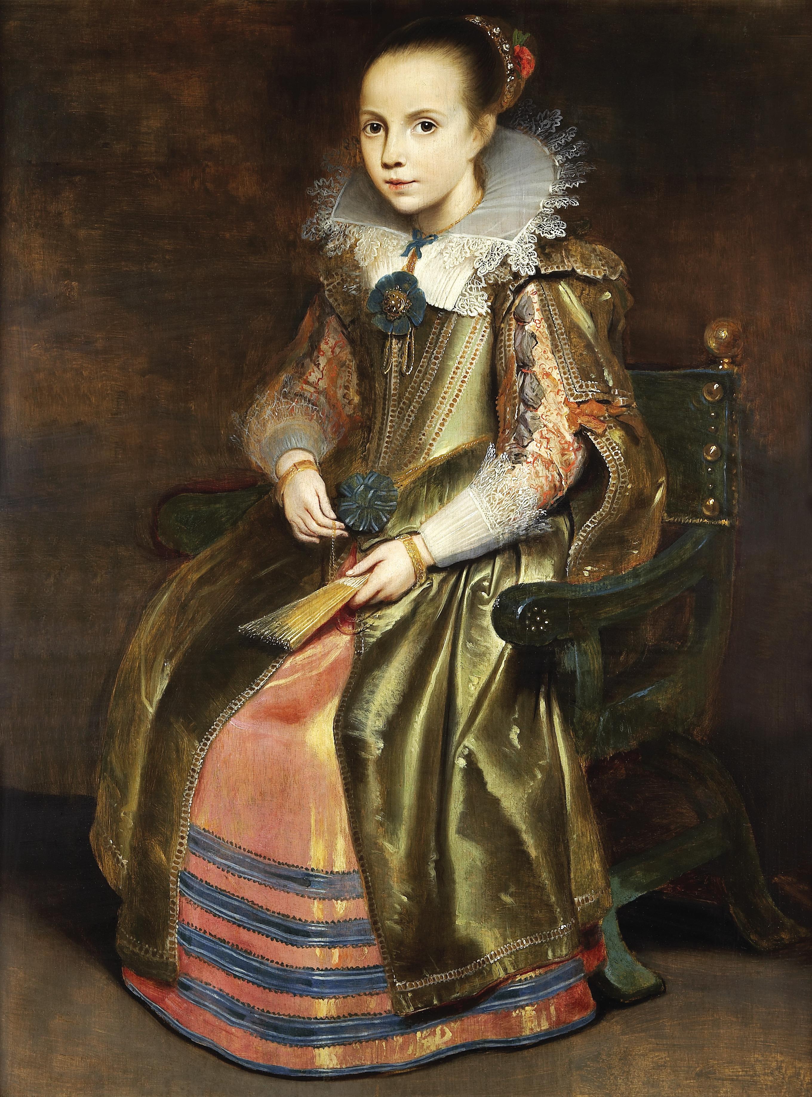 Cornelis de Vos, portret van Elisabeth of Cornelia Vekemans