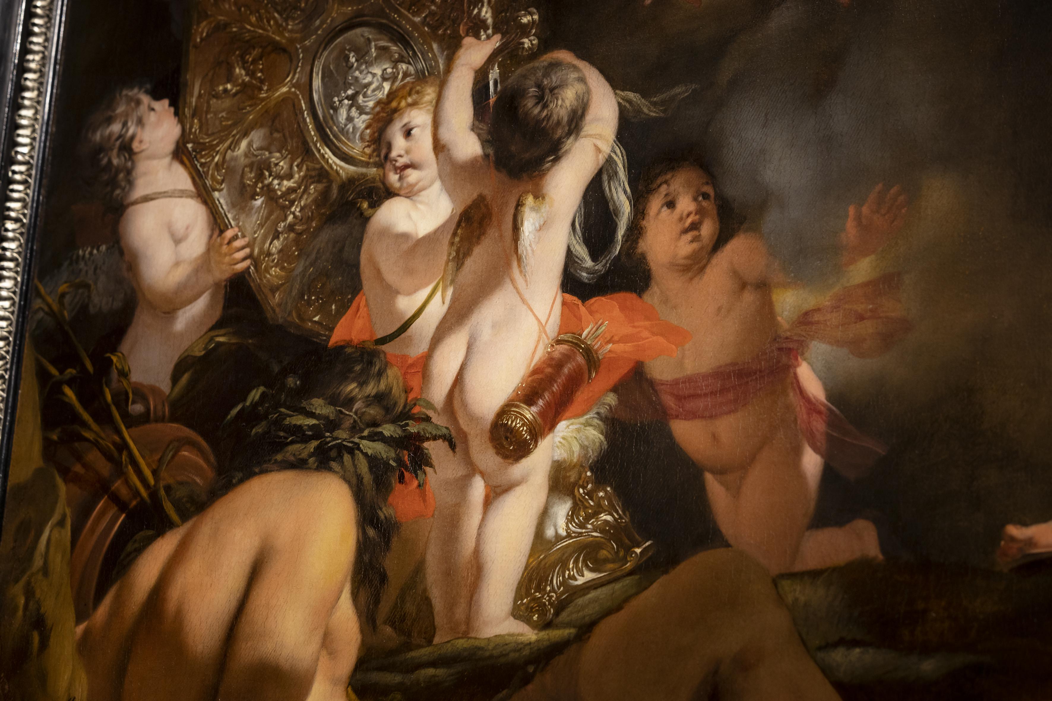 Gerard de Lairesse, Venus schenkt wapens aan Aeneas detail