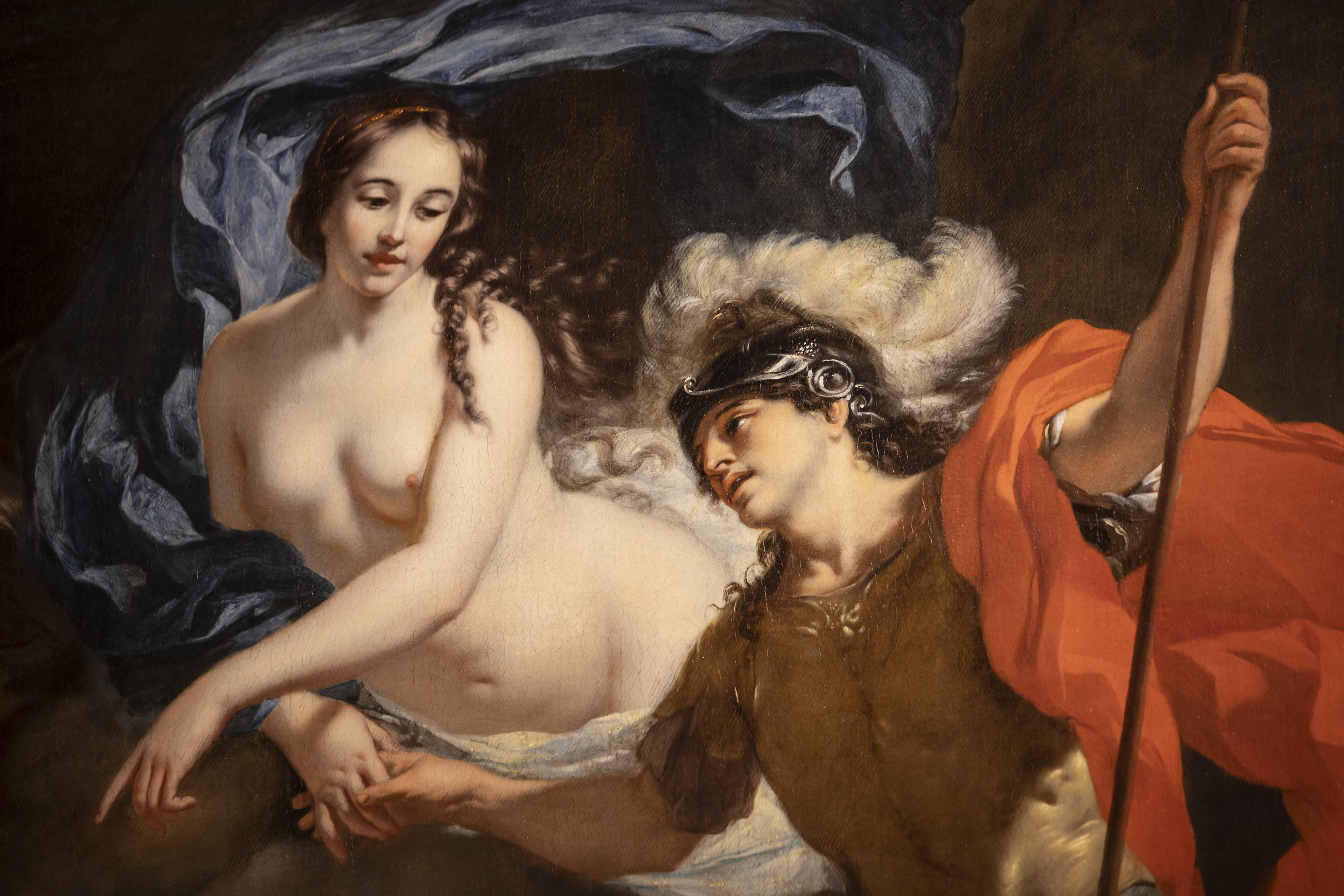 Gerard de Lairesse, Venus schenkt wapens aan Aeneas, detail