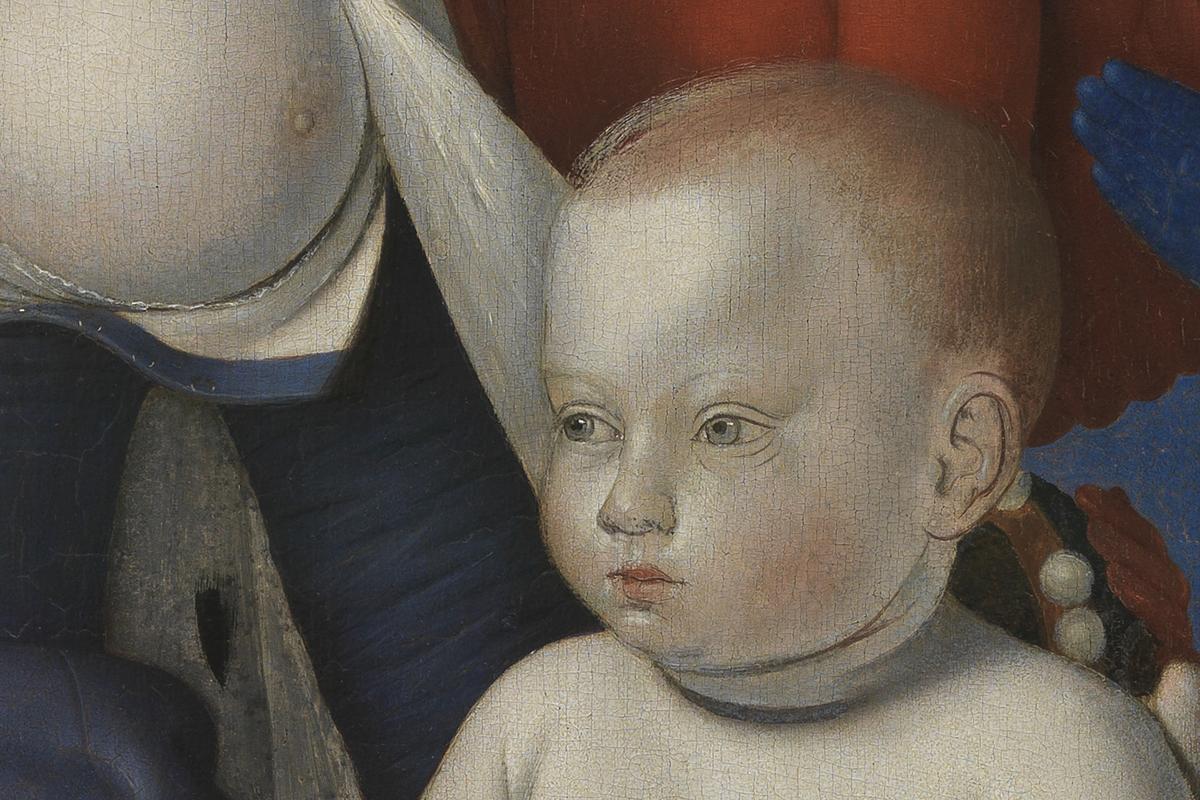 Detail uit Madonna van Fouquet. Foto: Ans Brys.